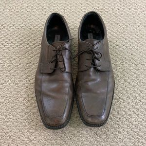 Brown Leather Lace Up Gordon Rush Dress Shoes